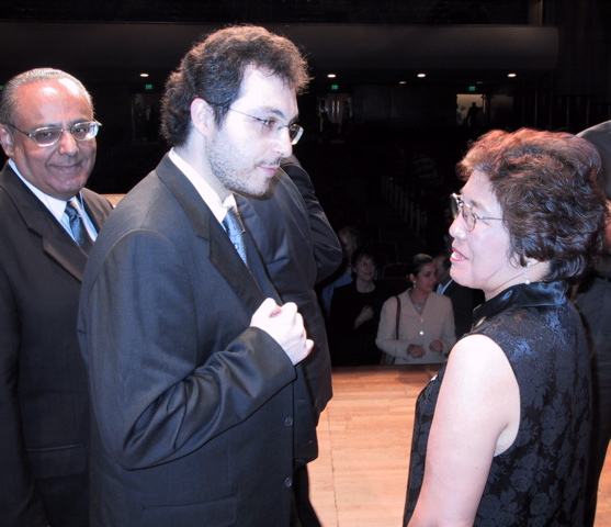 Vicki Bragin with Antonio Pompa-Baldi